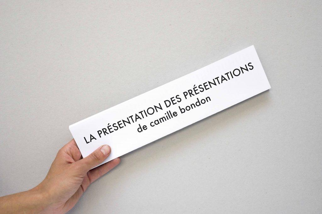 La présentation des présentations