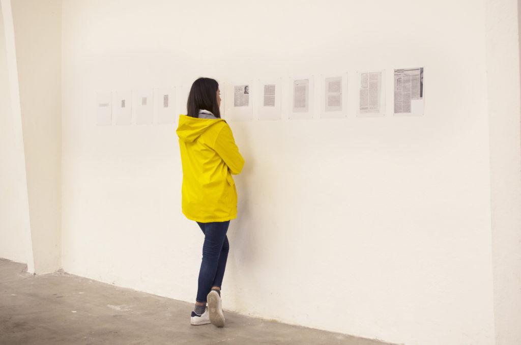 """Presse """"rêve"""", Camille Bondon, 2017, exposion collective """"Ma Parole !"""", atelier de la ville en bois, Nantes, comissariat Clémence Canet, 2019"""