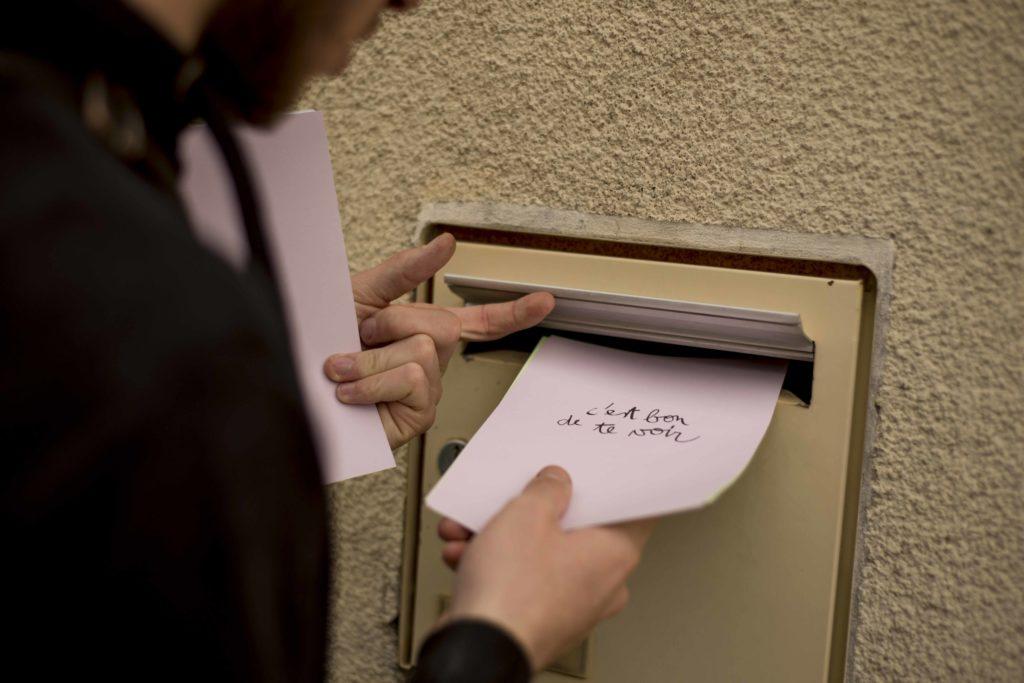 10 mots doux à partager, Camille Bondon, activation à Château-Gontier, invitation Bertrand Godot, 2019